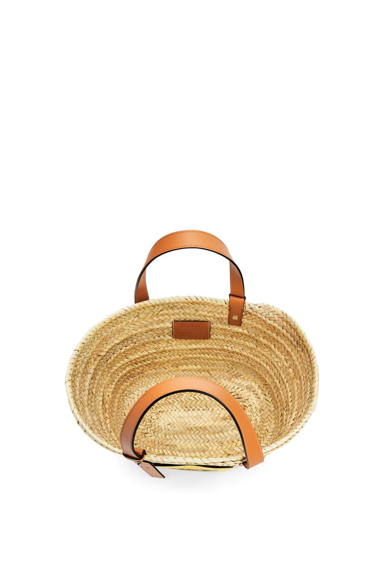 LOEWE L.A. Series Basket bag in palm leaf and calfskin Natural/Multicolor pdp_rd