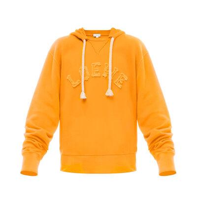 LOEWE Loewe Cut Hoodie Orange front