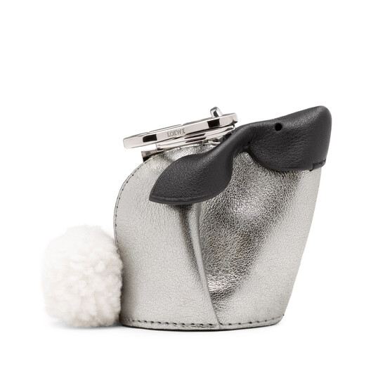 LOEWE Bunny Bicolor Charm White/Silver front