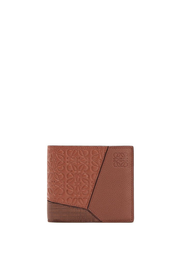 LOEWE Puzzle bifold coin wallet in calfskin Cognac pdp_rd