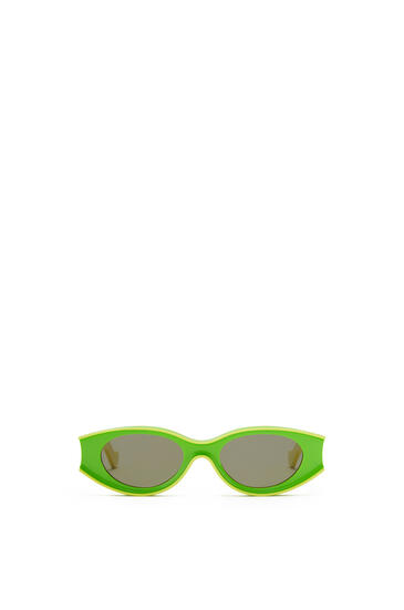 LOEWE Gafas de sol pequeñas en acetato Verde Neon/Amarillo Neon pdp_rd