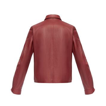LOEWE Flap Pocket Zip Jacket Burgundy front