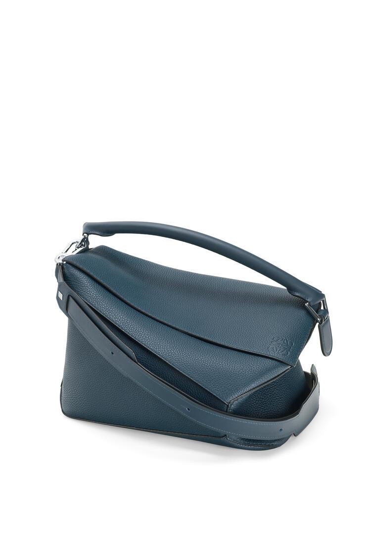 LOEWE Large Puzzle Edge bag in grained calfskin Indigo Dye pdp_rd