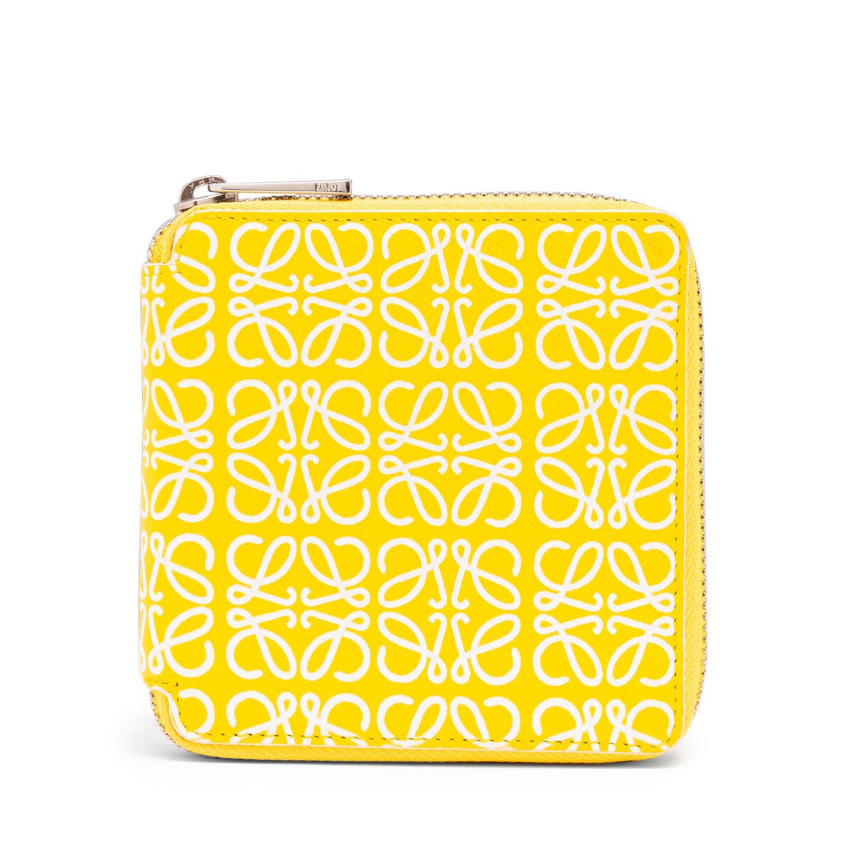 LOEWE Square Zip Wallet Yellow/White front