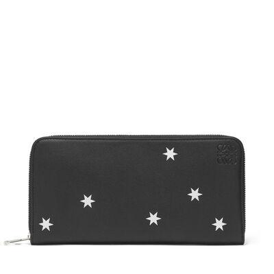 LOEWE Zip Around Wallet Stars Black/Silver front