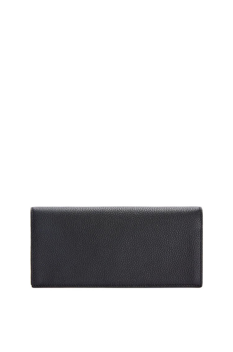 LOEWE Long horizontal wallet in soft grained calfskin Black pdp_rd