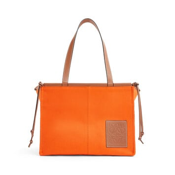 LOEWE Cushion Tote 橙色 front