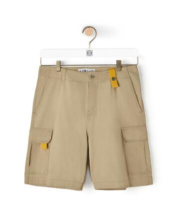 LOEWE Eln Cargo Shorts 米色 front