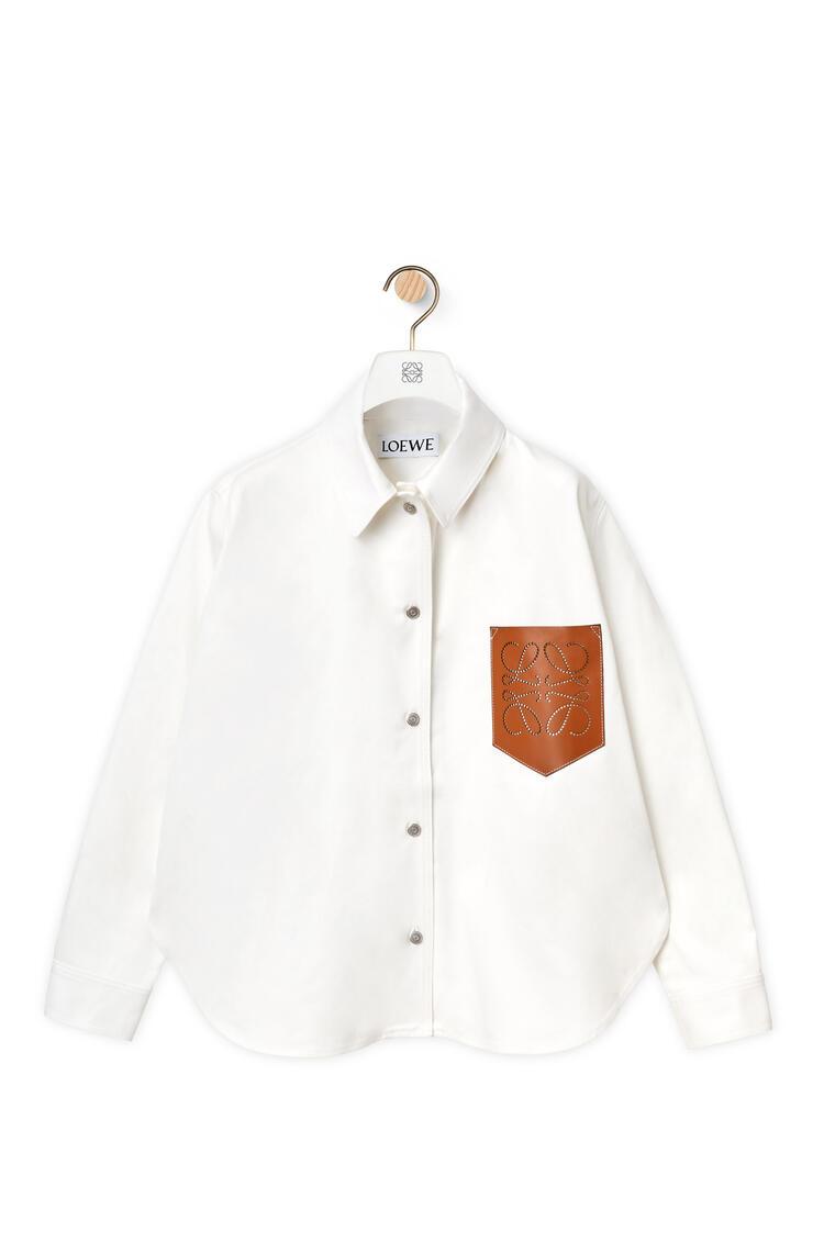LOEWE Leather pocket overshirt in denim Ecru pdp_rd