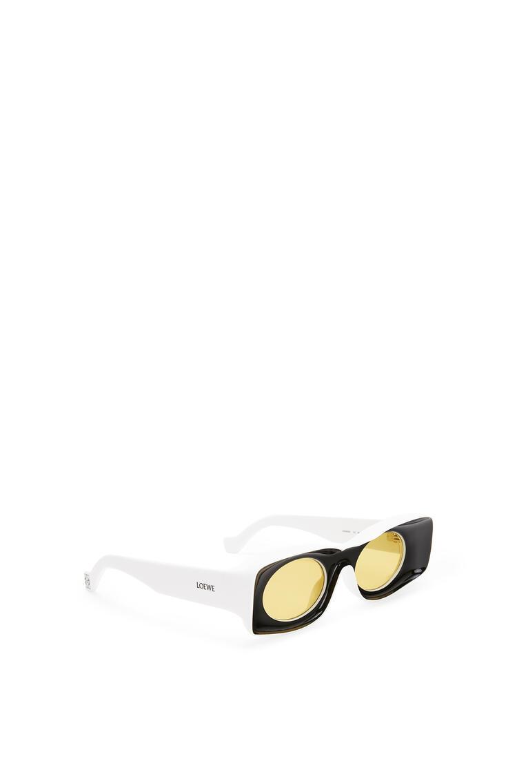 LOEWE Gafas de sol en acetato Negro/Blanco pdp_rd