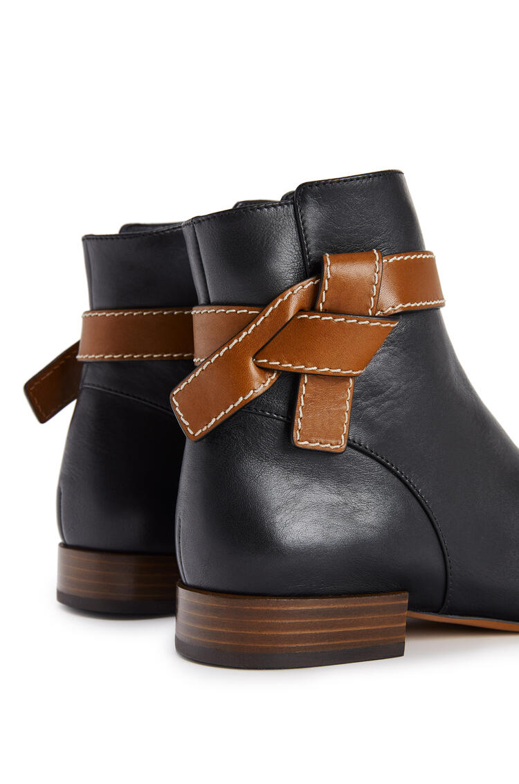 LOEWE Gate boot 25 in calf Black/Tan pdp_rd