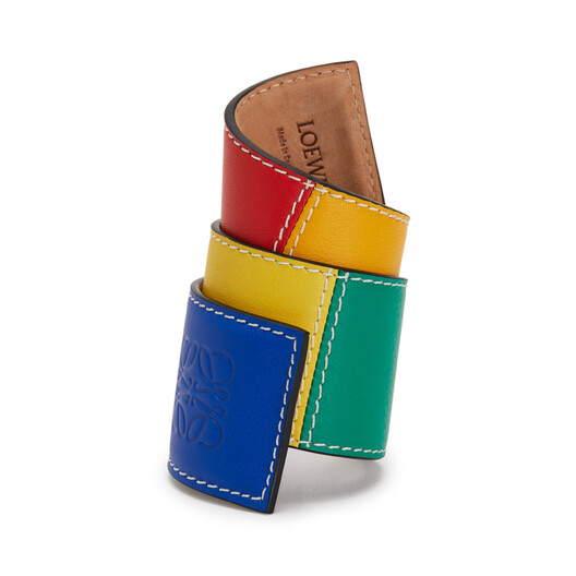 LOEWE Big Patchwork Slap Bracelet Multicolor front