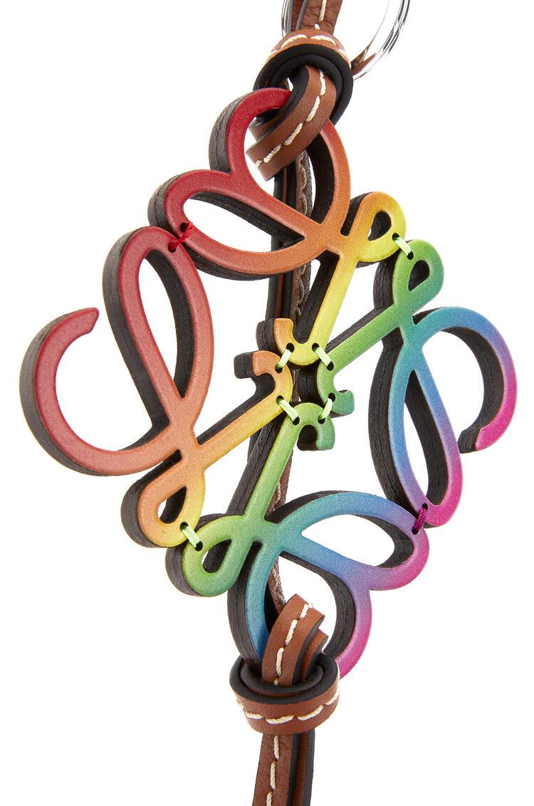 LOEWE Rainbow Anagram Charm In Calfskin Multicolor pdp_rd