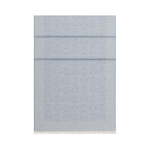 LOEWE 50X180 スカーフ モノグラム ブルー all