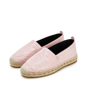 LOEWE Anagram Espadrille ライトピンク front