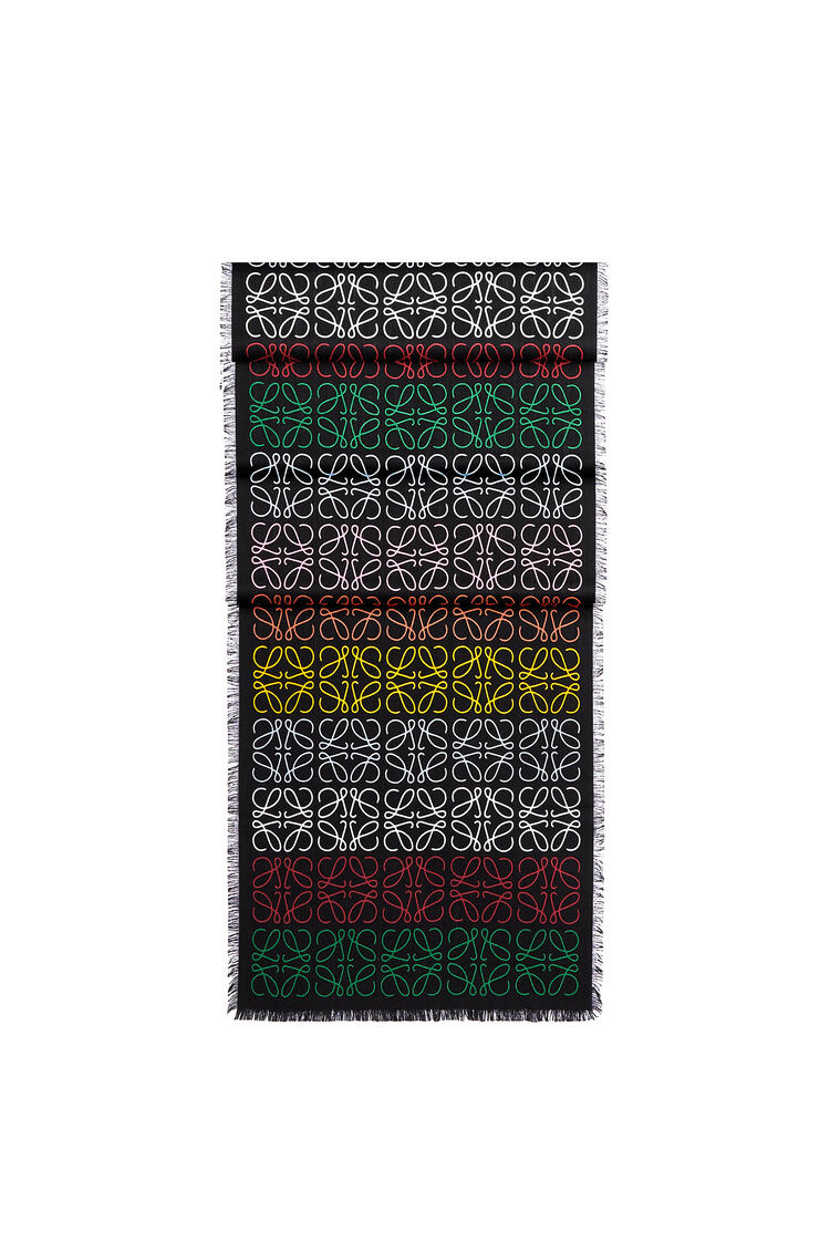 LOEWE 45 X 200 Cm Loewe Anagram Scarf In Wool And Cashmere Multicolor/Caramel  pdp_rd