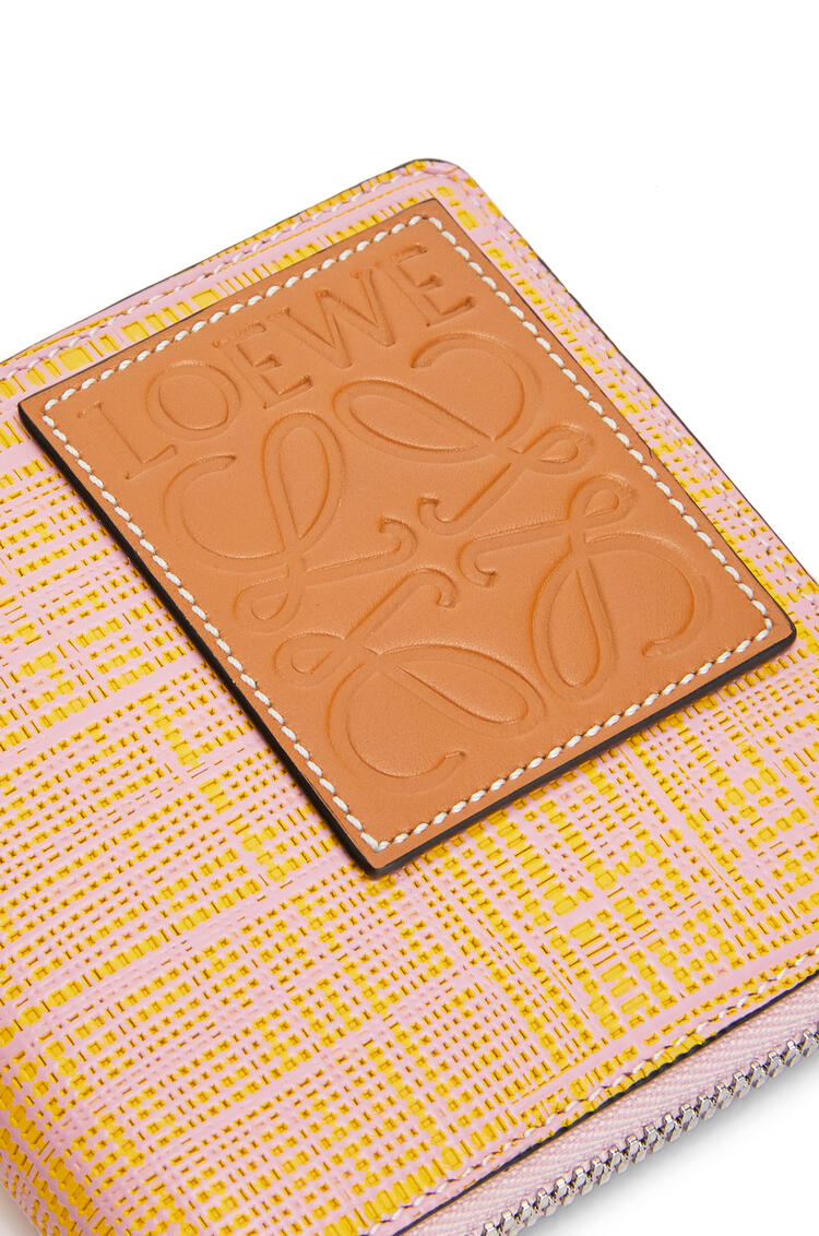 LOEWE Square zip wallet in calfskin Yellow/Pink pdp_rd