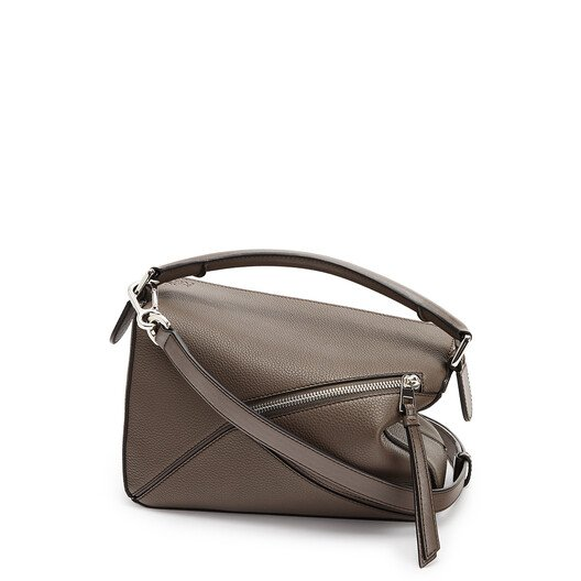 LOEWE Puzzle Small Bag Dark Taupe front