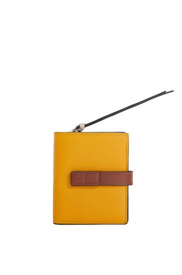 LOEWE Compact zip wallet in soft grained calfskin Narcisus Yellow/Pecan pdp_rd