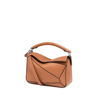LOEWE Mini Puzzle Bag Tan front