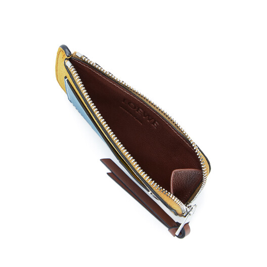 LOEWE Coin Cardholder Ochre/Steel Blue  front