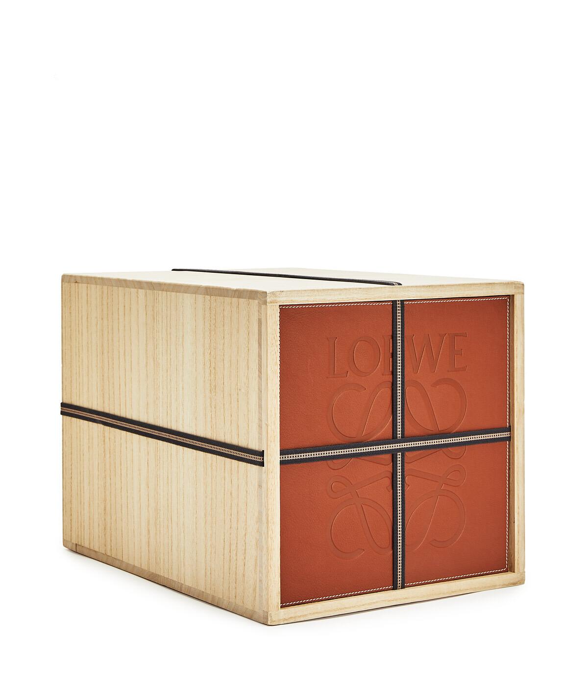 LOEWE Kiribako Box Tan front