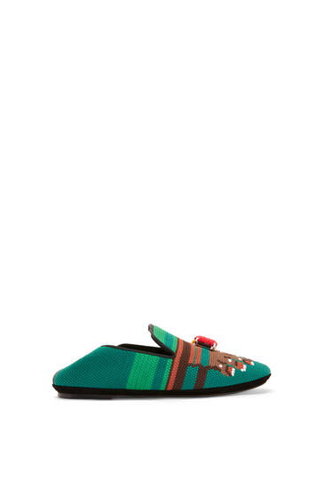 LOEWE Slipper in calfskin Brown/Green pdp_rd