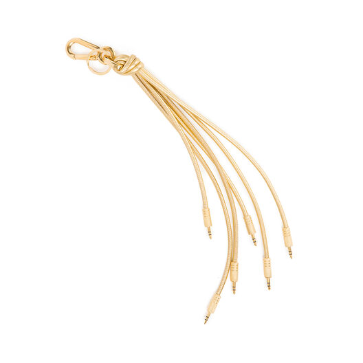 LOEWE Jack Plug Charm Gold/Gold all