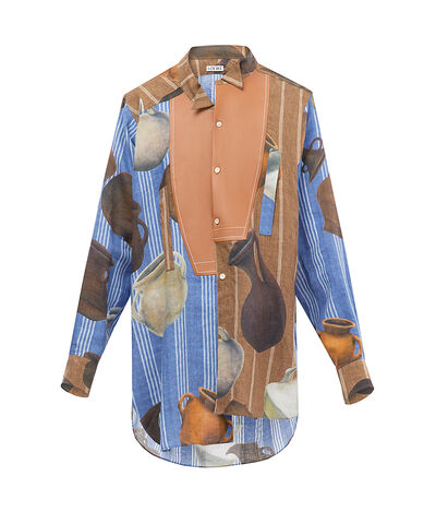 LOEWE Potery Long Asymetic Shirt Multicolor front
