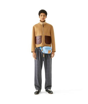 LOEWE Flap Pocket Zip Jacket Camel front