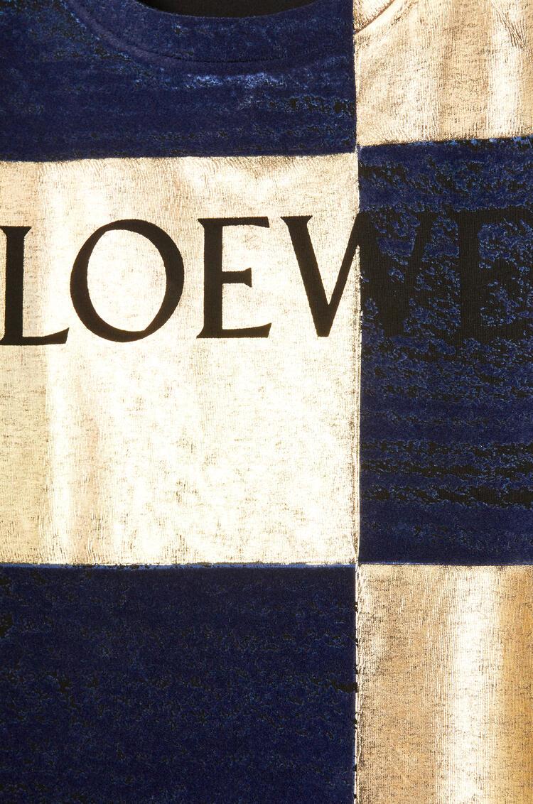 LOEWE LOEWE damier T-shirt in cotton Black pdp_rd