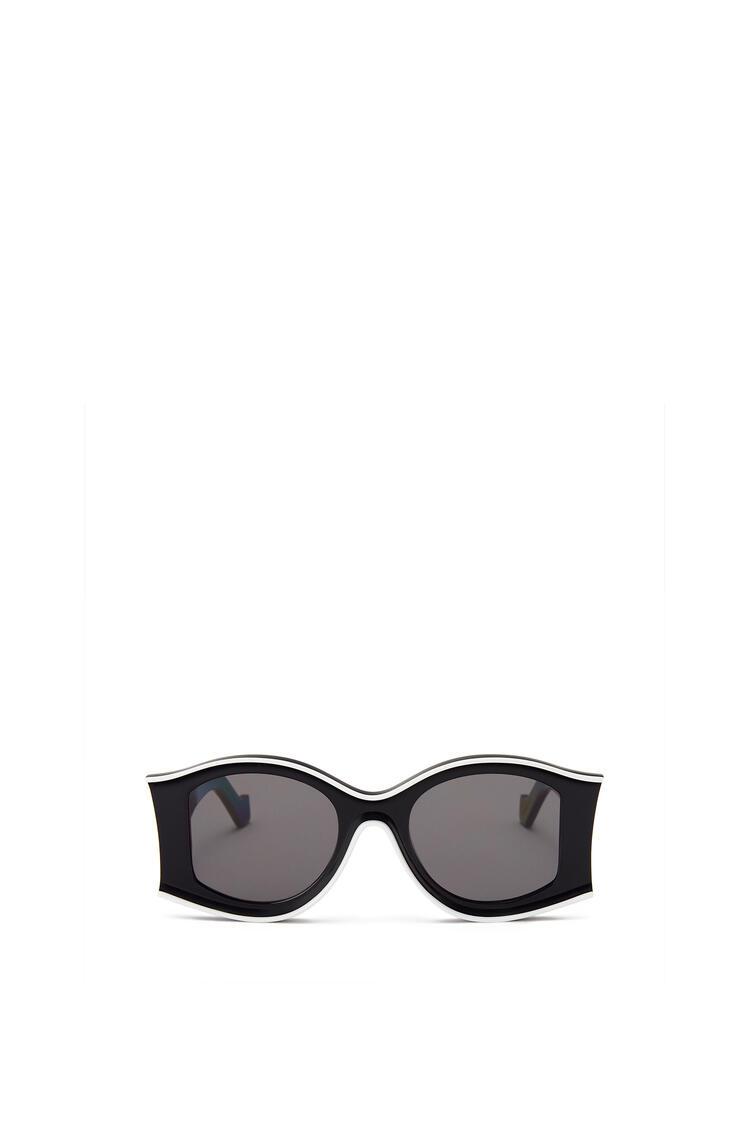 LOEWE Large Sunglasses in acetate 黑色/白色 pdp_rd