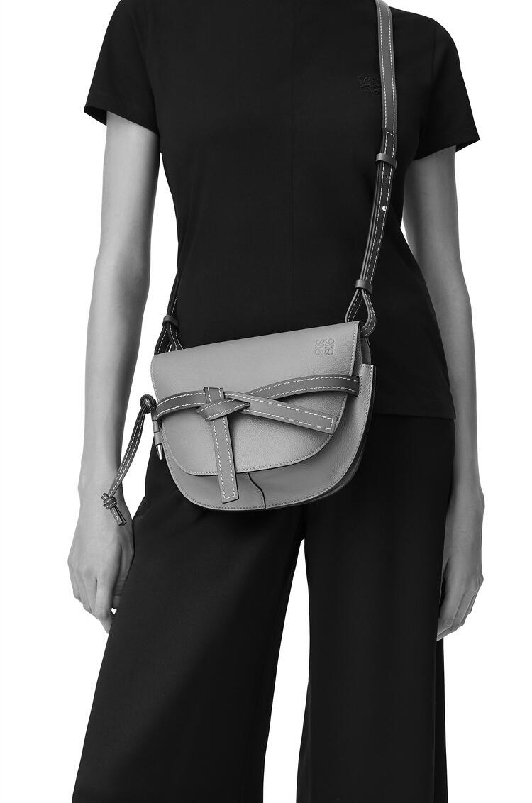 LOEWE Small Gate bag in pebble grain calfskin Tan pdp_rd