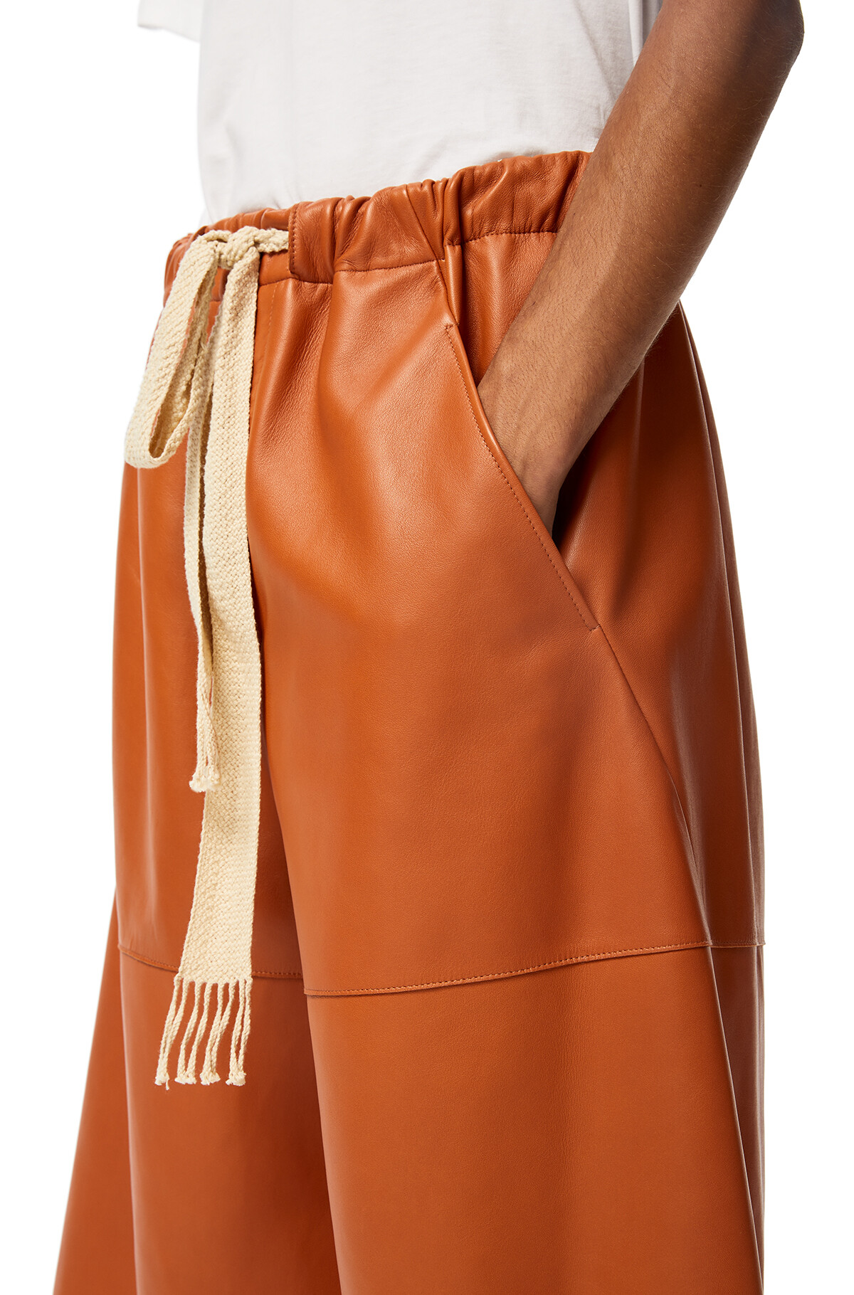 LOEWE Shorts Cognac front