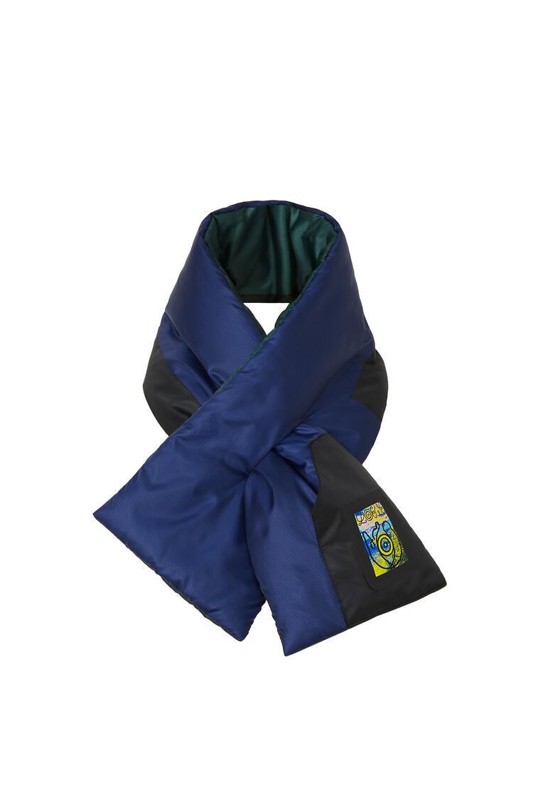LOEWE 16 x 90 Puffed scarf in nylon Dark Blue pdp_rd