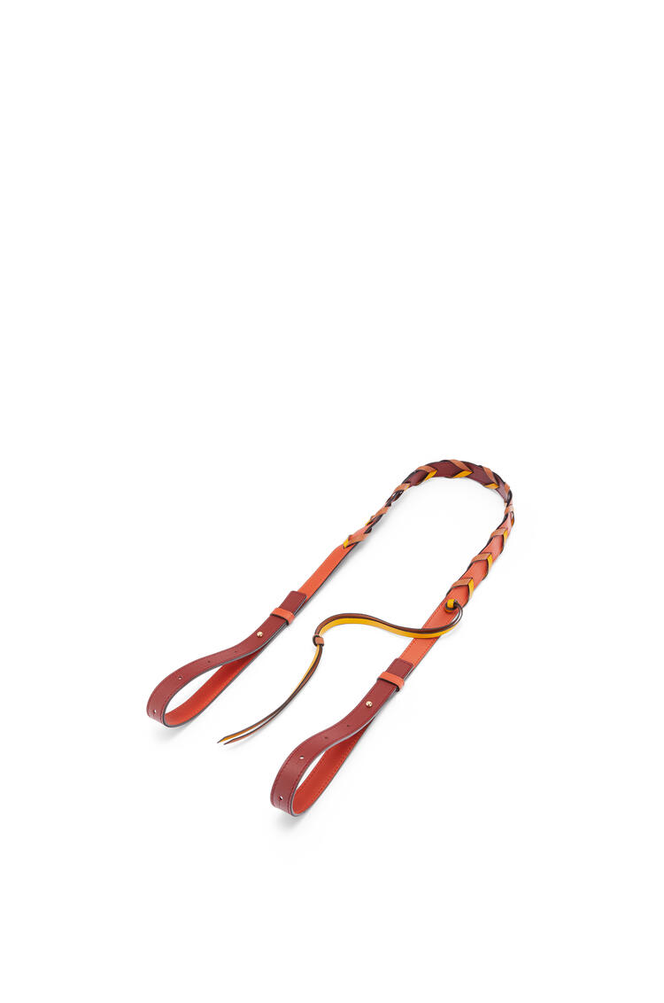 LOEWE Braided loop strap in classic calfskin Pumpkin/Burnt Red pdp_rd