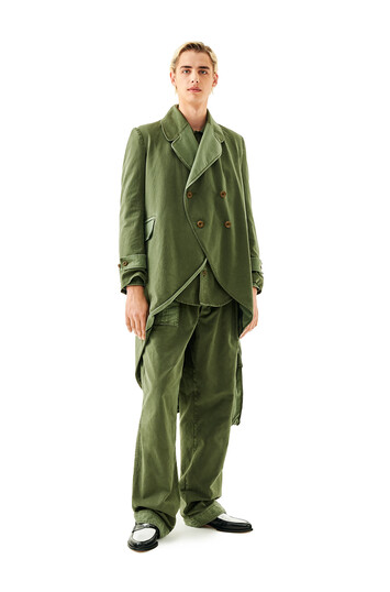 LOEWE Cuffed Pants V.Kaki Oscuro/V.Kaki Claro front