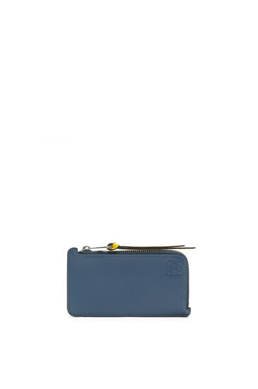 LOEWE Coin cardholder in soft calfskin Blue/Multicolor pdp_rd
