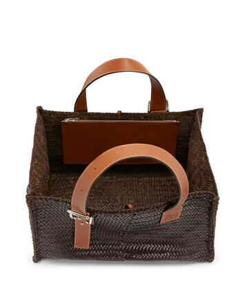 LOEWE Buckle Tote Woven Brunette front