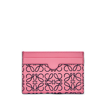 LOEWE Plain Card Holder Wild Rose/Black front
