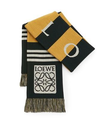 LOEWE 17X120 Scarf Loewe Jacquard Yellow front