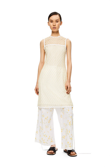 LOEWE Sleeveless Lace Top Amarillo front
