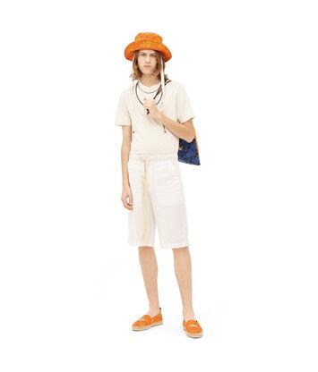 LOEWE Paula Stripe Shorts White Ash front