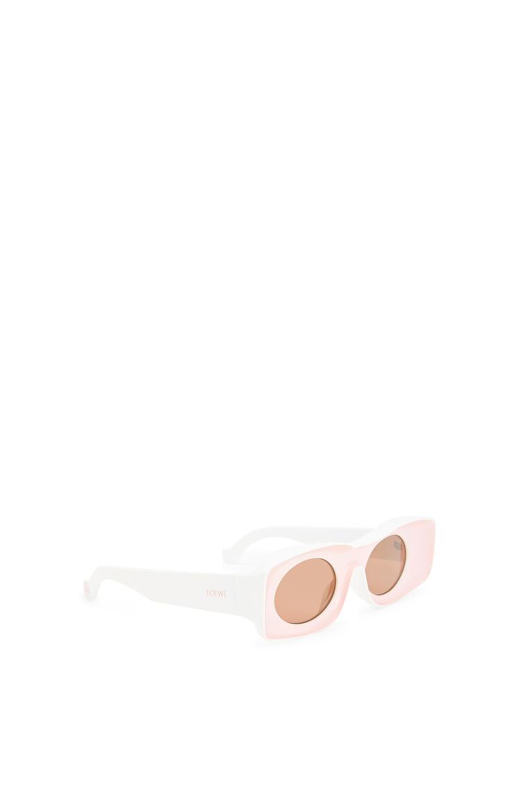 LOEWE Paula's Ibiza Original Sunglasses In Acetate Pink/White pdp_rd