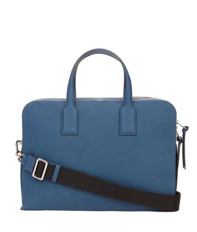 LOEWE Goya Thin Briefcase Indigo front