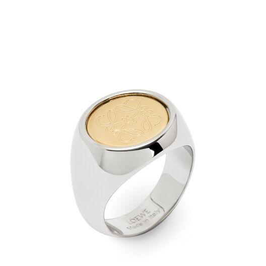 LOEWE フリップリング palladium/gold front