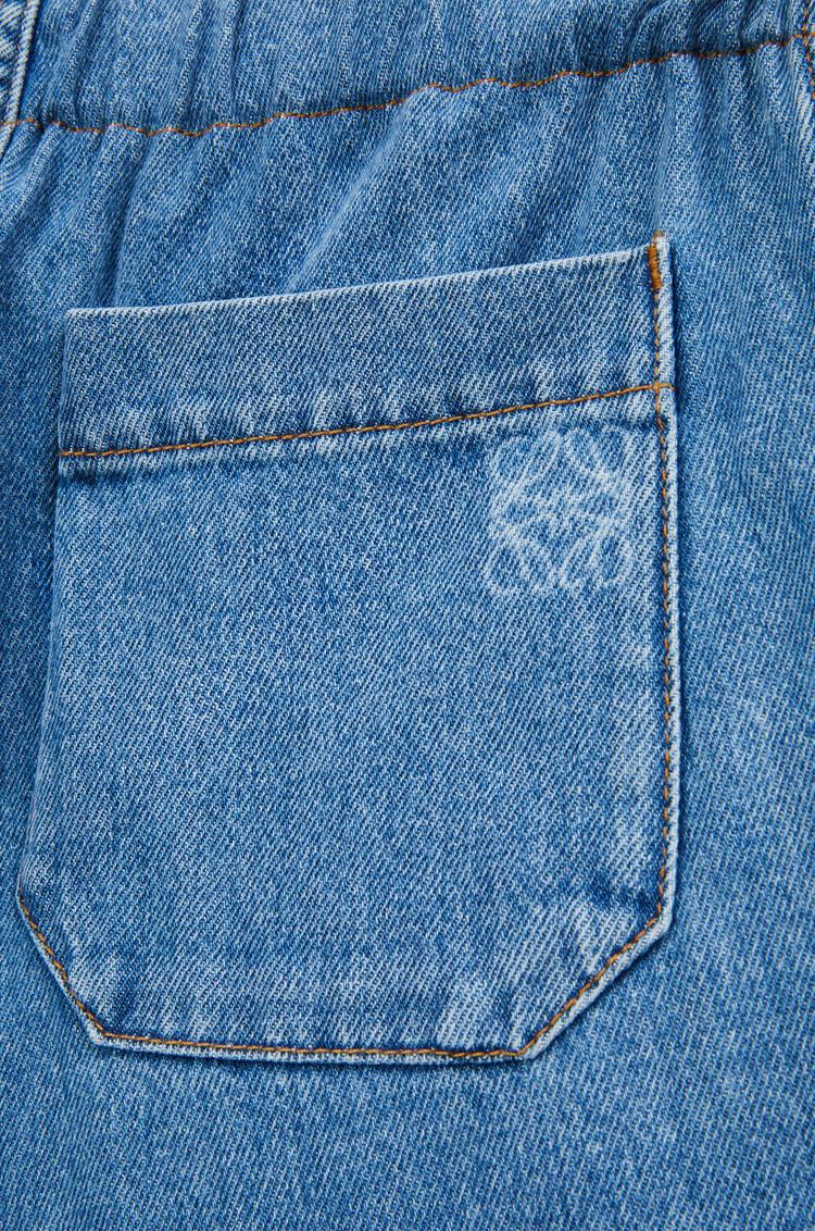 LOEWE 棉质抽绳牛仔裤 淡蓝色 pdp_rd