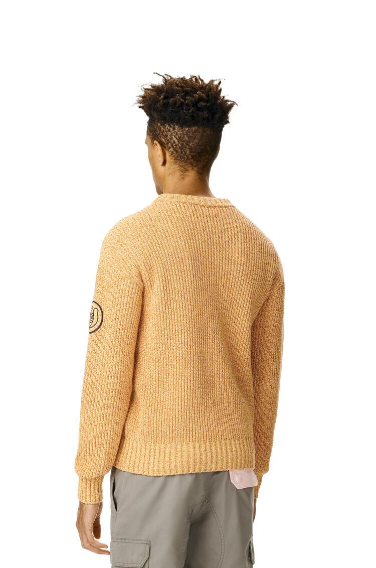 LOEWE Melange Crewneck Sweater In Cotton Mustard pdp_rd