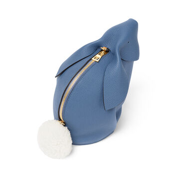 LOEWE Bunny Mini Bag Varsity Blue/Pecan Color front