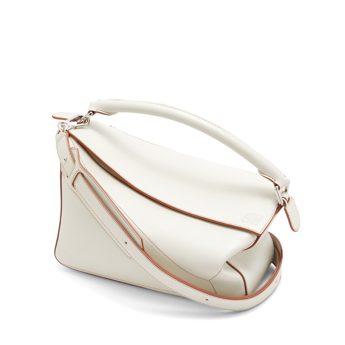 LOEWE Puzzle Soft Bag Soft White front